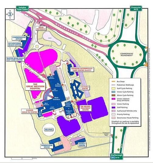 Maternity Hospital Floor Plan: Parking Map